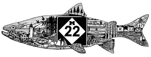 M22 Fish Line Art