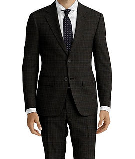 Charcoal Navy Check Suit:Z4-4071912  Shirt:N6-4071976