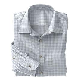 Lt Blue Blue Check Twill Shirt:S4-3541024