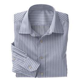 Norwich Blue White Stripe Shirt:N3-3340088