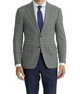 Dormeuil Woodland Ice Grey Blue Window Jacket:Y6-4185342  Lining:L2-3540425  Trouser:Z2-3336930  Shirt:N6-4071977