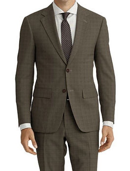 Taupe Sharkskin Suit:Z4-4071942  Shirt:N5-4071839