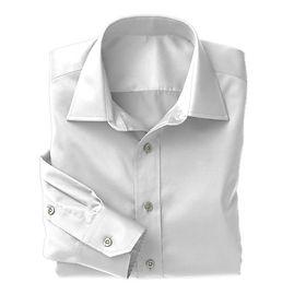 White Herringbone Shirt:N3-3340141