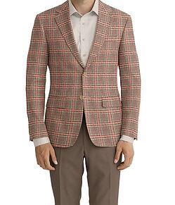 Dormeuil Dorsilk Red Brown Rose Window Sportcoat:Y4-4185167  Lining:L4-4072782  Trouser:C6-3336848  Shirt:N7-3753346