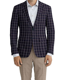 Dormeuil Dorsilk Red Blue Char Ice Twin Check Jacket:Y4-4185208  Lining:L4-4072797  Trouser:C6-3644074  Shirt:N6-4071977