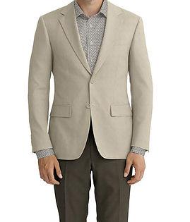 Dormeuil Calypso Ecru Texture Jacket:Y6-4073665  Lining:L2-3540529  Trouser:Z4-3336951  Shirt:N5-4293129