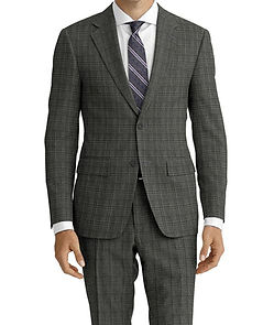 Dormeuil Travel Resistant Ice Check Charcoal Suit:Y4-4185293  Lining:L4-4072745  Shirt:N5-4071883