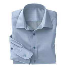 Blue Prince of Wales Check Shirt:N3-3340105