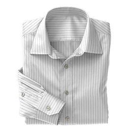 Charcoal Bankers Stripe Shirt:N3-334009