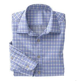 Lt Blue Navy Plaid Shirt:N5-4074720