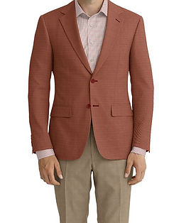 Dormeuil Dorsilk Red Rouge Puppytooth Jacket:Y6-4073716  Lining:L4-4072718  Trouser:E1-3642474  Shirt:N3-3858277