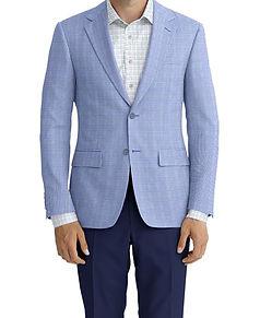 Dormeuil Calypso Sky Mini Check Sportcoat:Y6-4073649  Lining:L4-3752900  Trouser:C2-4184609  Shirt:N6-4071985