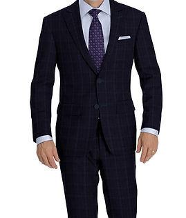 Blue Melange Check Suit:Y4-4292904  Shirt:N5-4071768