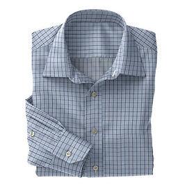 Sky Blue Navy Check Shirt:N3-3858208