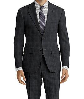 Grey Teal Plaid Suit:C9-4072382  Shirt:N6-4071984