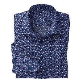 Blue Antique Stretch Shirt:N7-4073156