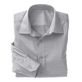 Grey Multi Stripe Shirt:N3-3340095