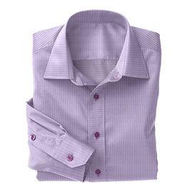 Lavender Micro Gingham Check Shirt:N5-3753279
