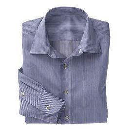 Navy Bengal Stripe Shirt:N3-3340114