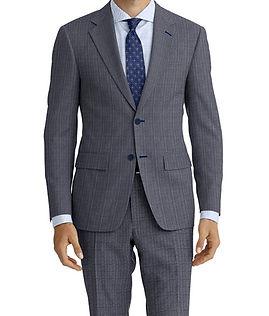 Drago Vantage Lt Blue Grey Herringbone Stripe Suit:Z2-4071519  Lining:L6-4072648  Shirt:N5-4071763