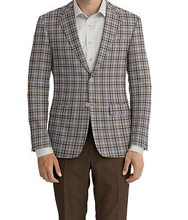 Lt Grey Brown Check Jacket:Z2-3961962 Trouser:Z2-4186902  Shirt:N5-4071839