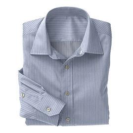 Blue White Stripe Shirt:N3-3340092