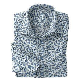 Lt Blue Paisley Shirt:N5-4293116
