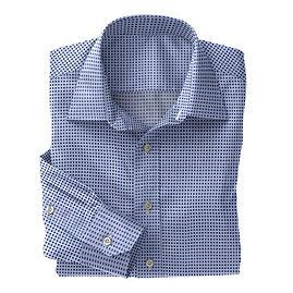 Blue Navy Dot Print Shirt:N5-4074764