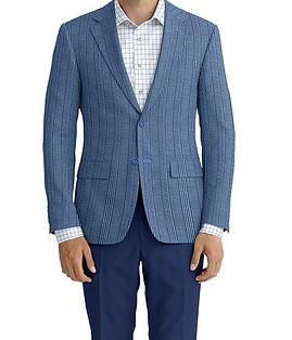 Dormeuil Dorsilk Sky Blue Boat Stripe Jacket:Y6-4073699  Lining:L4-4072735  Trouser:E1-3642479  Shirt:N6-4072000