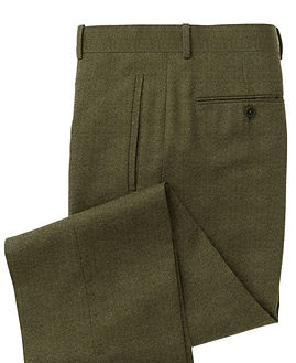 Olive Solid Trouser:Z3-3962097