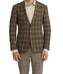Dark Taupe Crème Check Jacket:Z4-3962235  Lining:L4-4072737  Trouser:Z3-3962259  Shirt:N6-3858605