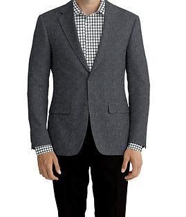 Black Grey Solid Linen Jacket:K4-3861651 Trouser:Z2-4186917  Shirt:N6-4072888