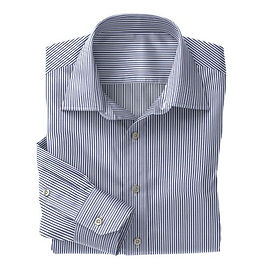 Navy Classic Stripe Shirt:N3-3340116
