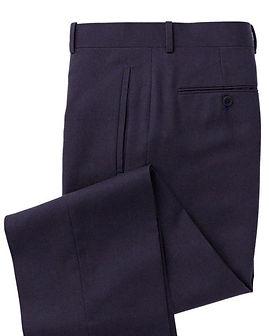 Marine Blue Solid Trouser:Z3-3962108