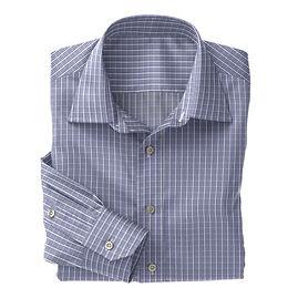 Blue White Check Shirt:N3-3340084