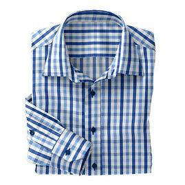 Blue/Navy Check Shirt:N3-3753450