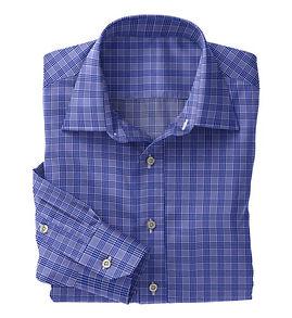 Blue Navy Check Shirt:N5-4074727