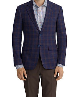 Blue Brown Check Jacket:Z2-3961965  Trouser:C6-3644047  Shirt:N6-4072011