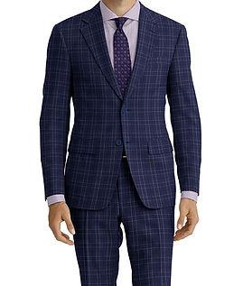 Blue Navy Plaid Suit:C9-4072368   Shirt:N7-4072173