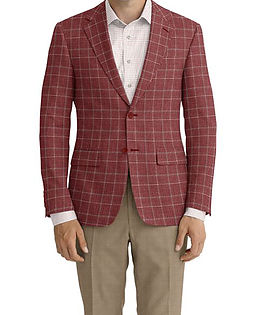 Dormeuil Dorsilk Rouge Check Jacket:Y6-4073685  Lining:L4-4072718  Trouser:E1-3642474