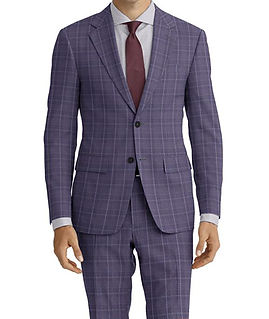 Dormeuil Amadeus Action Grey Ice Rust Check Suit:Y4-4185217  Lining:L4-4072739  Shirt:N5-4071808