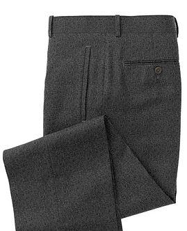 Grey Solid Trouser:Z3-3962103