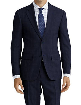 Blue Check Suit:Z4-4071916  Shirt:N6-4072000