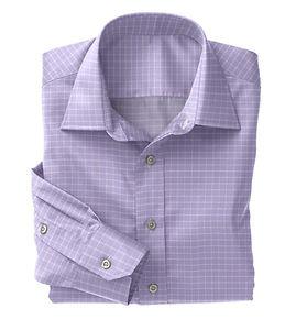 Lavender Check Shirt:N5-4074726