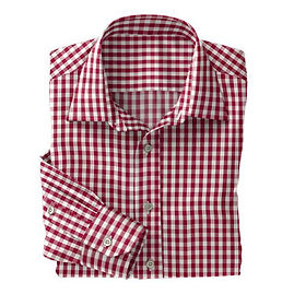 Burgundy Club Check Shirt:N2-3754094