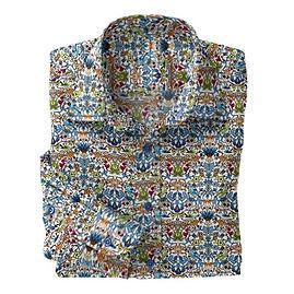 White Queens Garden Stretch Shirt:N7-4073158
