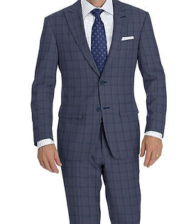 Grey Blue Check Suit:Y4-4292908  Shirt:N6-4071977