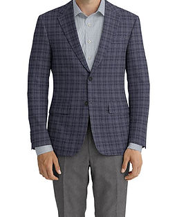 Dormeuil Echo Charcoal Window Overcheck Jacket:Y6-4073445  Lining:L2-3540491  Trouser:Z1-3336882  Shirt:N3-3753498