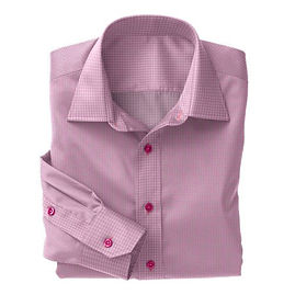 Pink Check Twill Shirt:S4-3541064