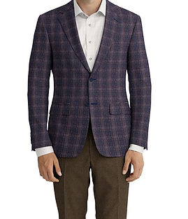 Blue Rust Plaid Jacket:Z3-3962130  Lining:L4-4072752  Trouser:Z3-3962094  Shirt:N4-3753159